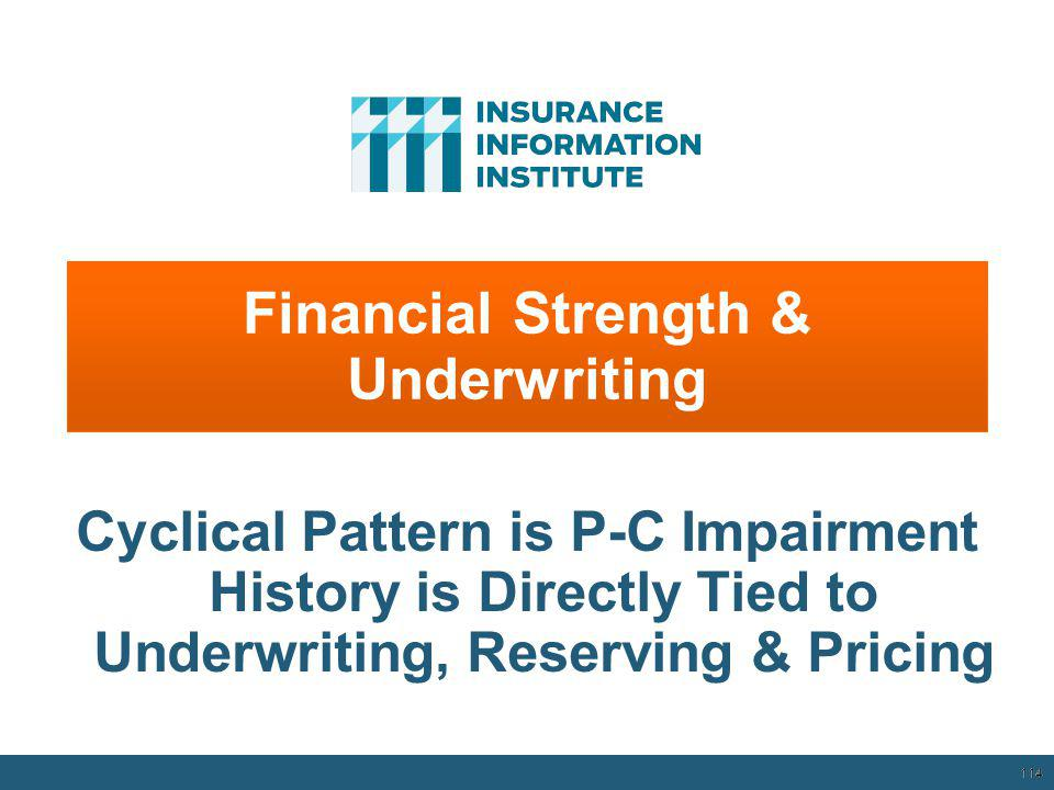 12/01/09 - 9pmeSlide – P6466 – The Financial Crisis and the Future of the P/C 113 Number of Years with Underwriting Profits by Decade, 1920s–2010s * 2009 combined ratio excl.