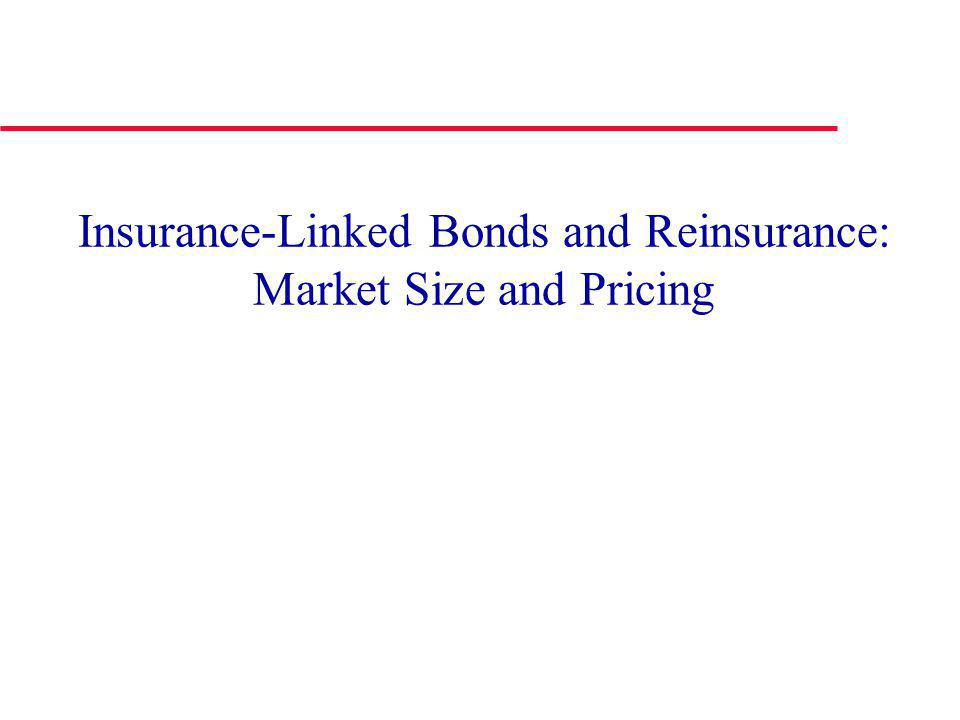 Insurance-Linked Bonds and Reinsurance: Market Size and Pricing