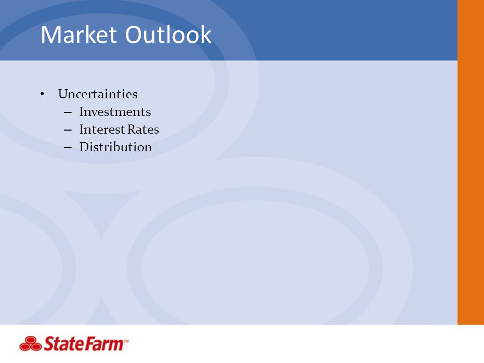 Market Outlook Uncertainties – Investments – Interest Rates – Distribution