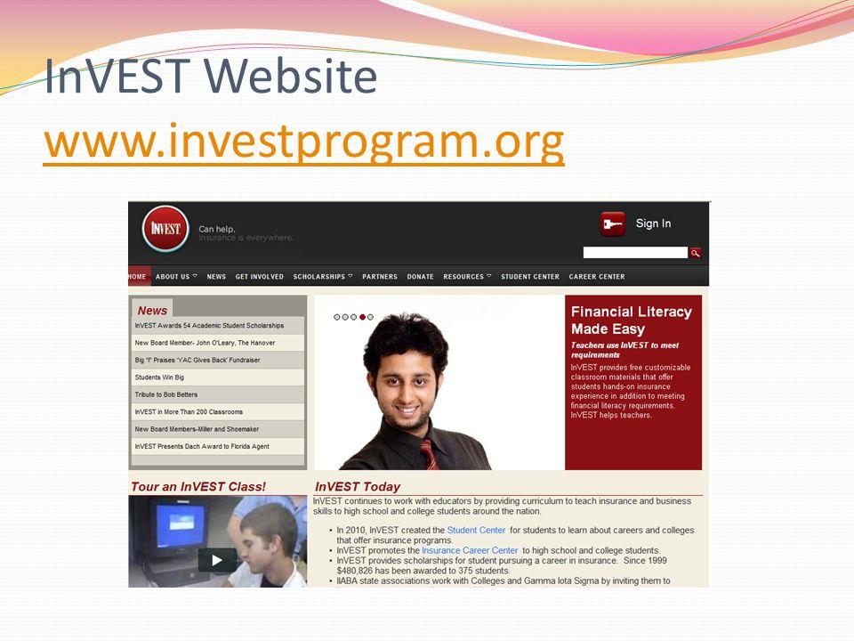 InVEST Website www.investprogram.org www.investprogram.org