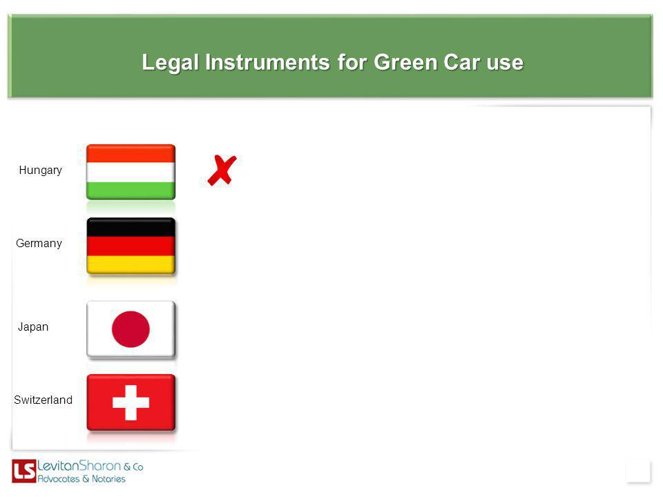 Legal Instruments for Green Car use Switzerland Japan Germany Hungary