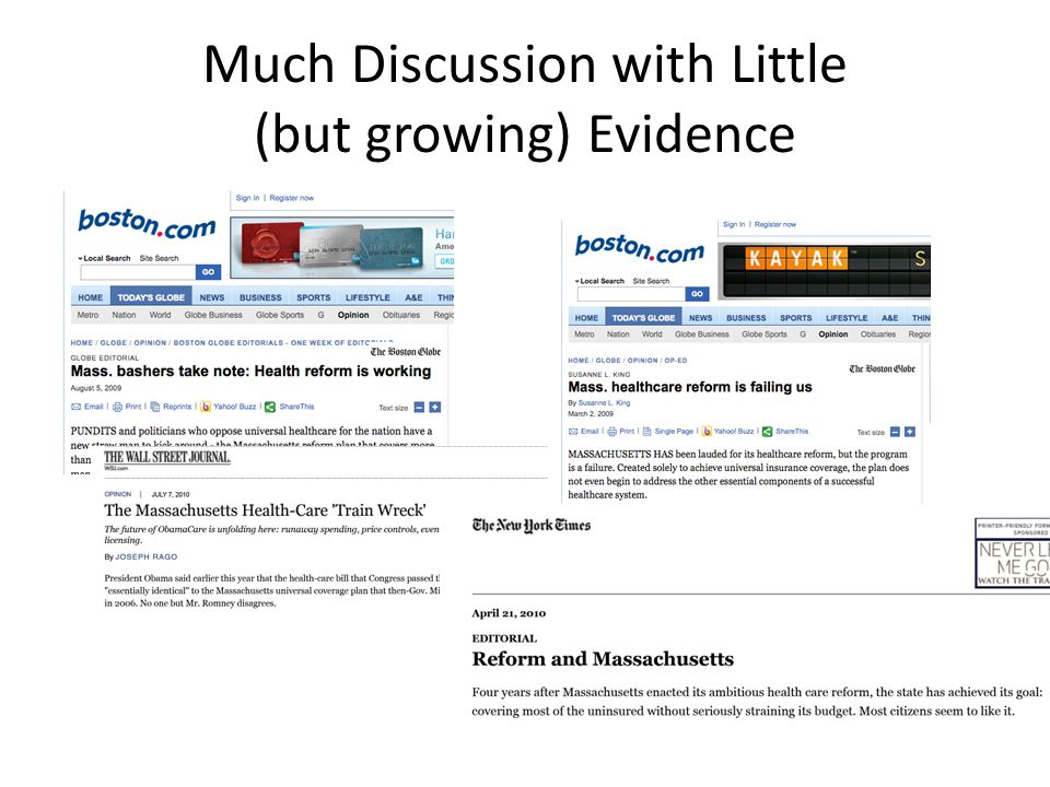 Much Discussion with Little (but growing) Evidence