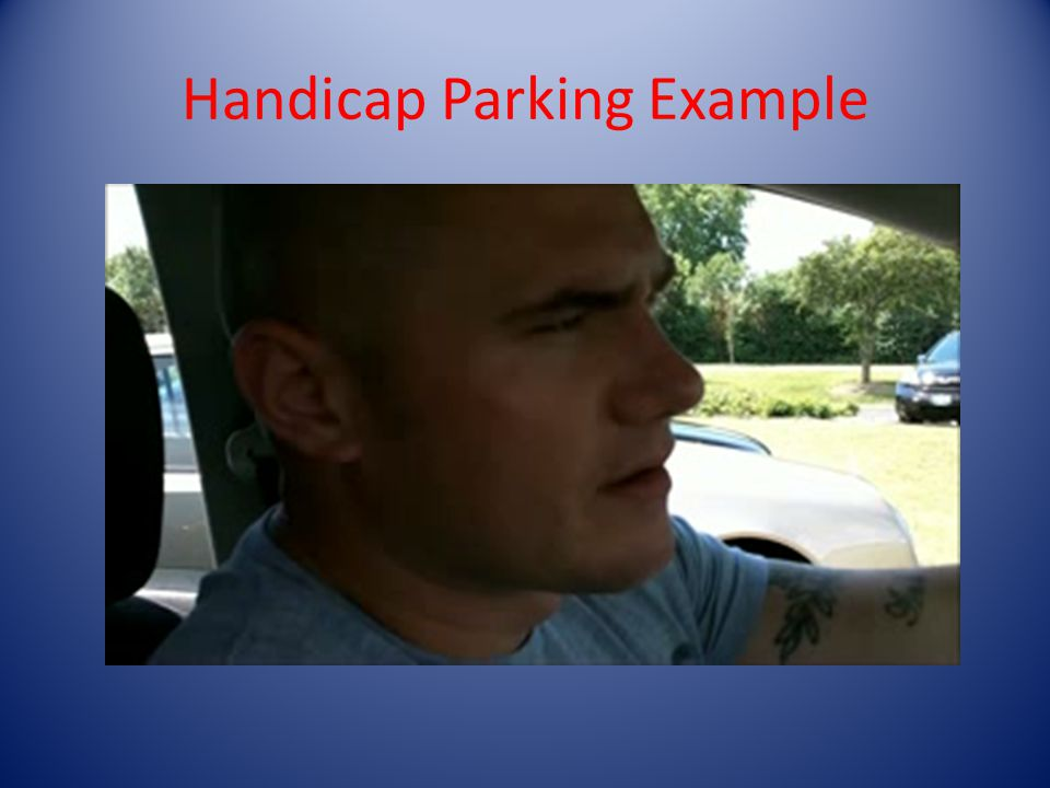Handicap Parking Example