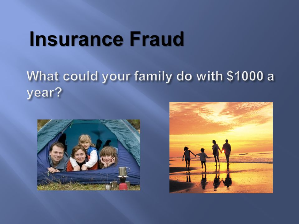 An estimated 3 out of every 10 insurance claims may involve fraud.