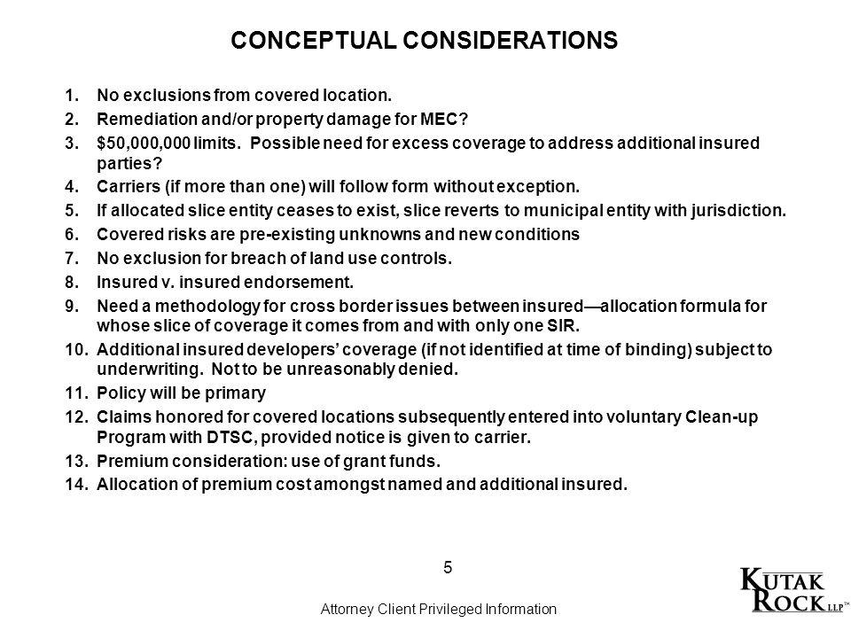 CONCEPTUAL CONSIDERATIONS 1.No exclusions from covered location.