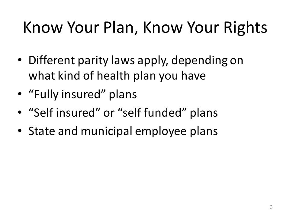 Who is covered by the Massachusetts Parity Law.