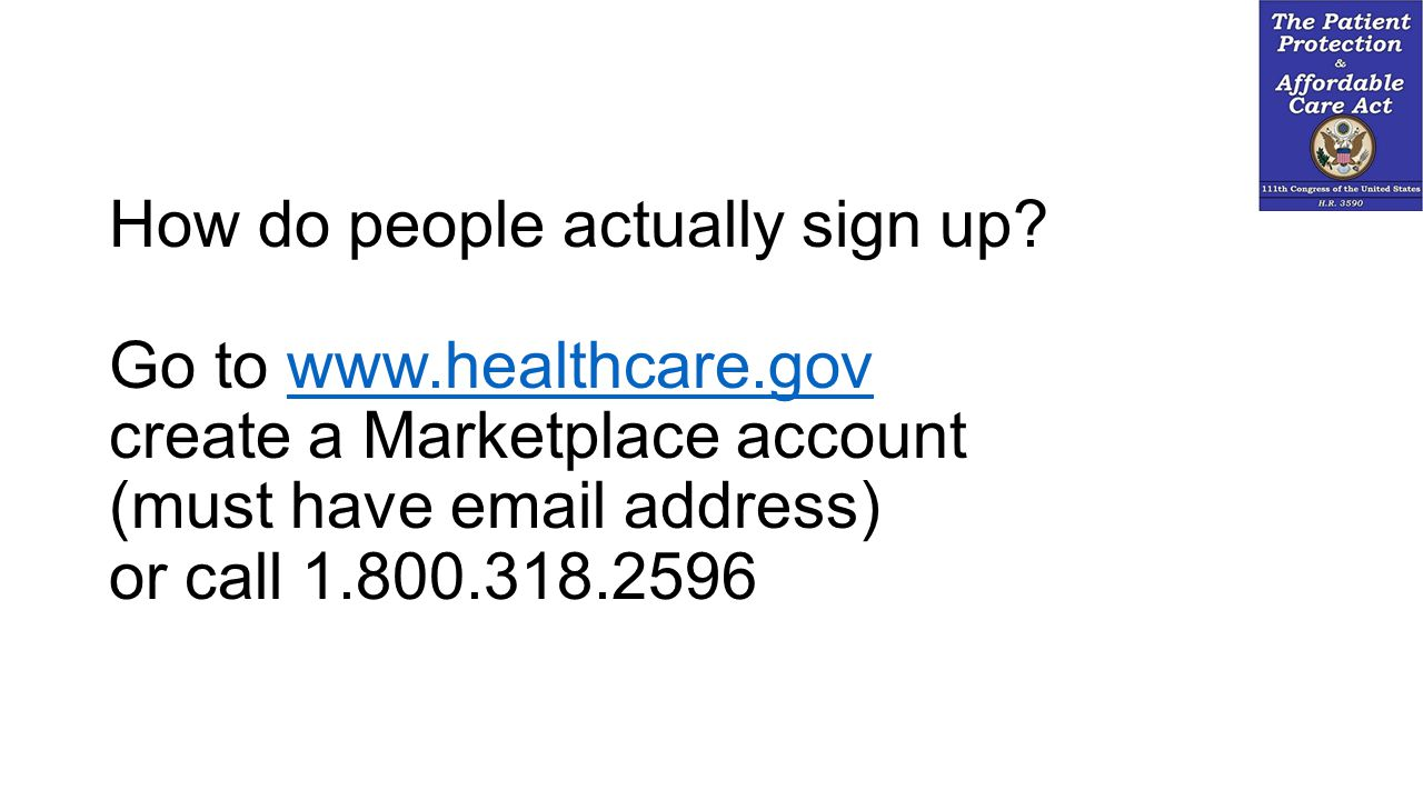 How do people actually sign up.