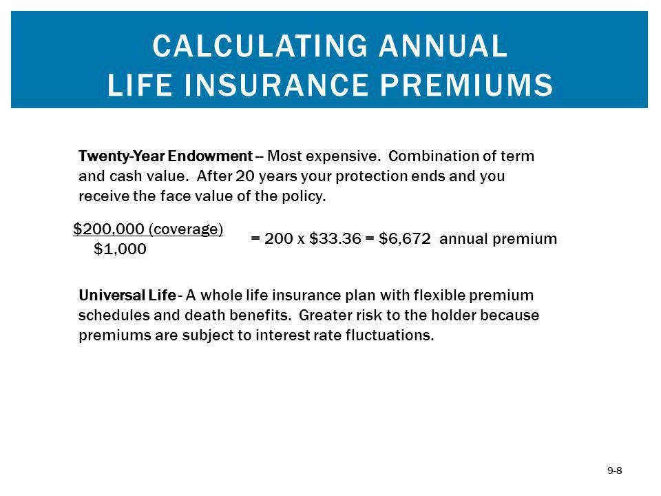 Universal Life - A whole life insurance plan with flexible premium schedules and death benefits.