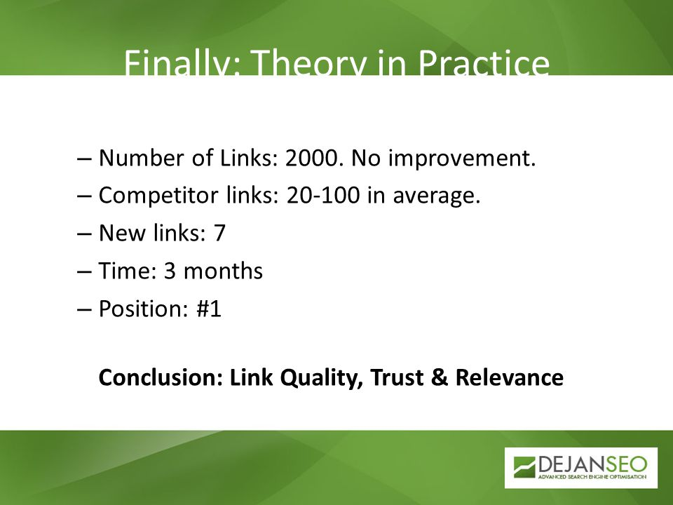 Finally: Theory in Practice – Number of Links: 2000.