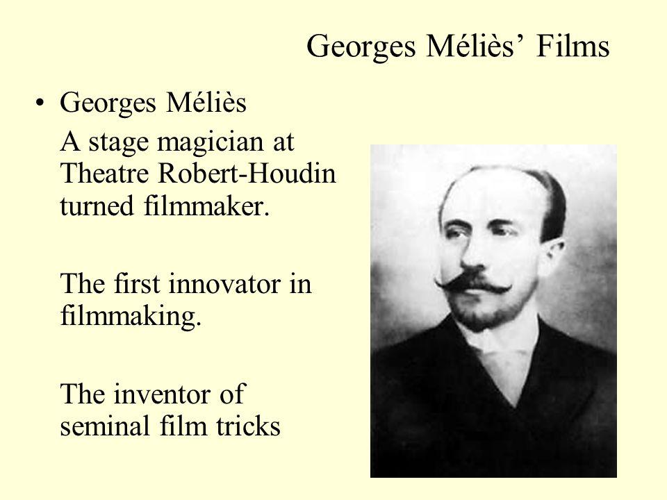 Georges Méliès Films A Trip to the Moon (Le Voyage dans la lune: 1902) A fantasy about a rocket journey to the moon