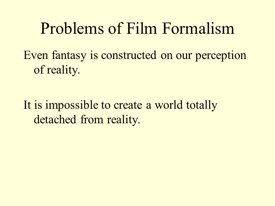 Problems of Film Realism A film re-presents objects and people Or re-traces (an event); re-calls (an event); re- produce (reality), re-enact (an event