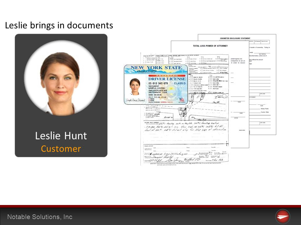 Notable Solutions, Inc Leslie brings in documents