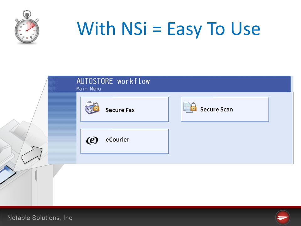 Notable Solutions, Inc With NSi = Easy To Use Secure Fax Secure Scan eCourier