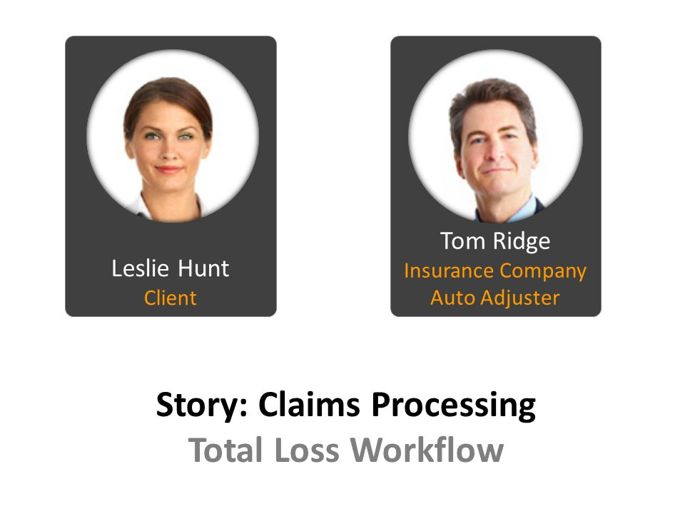 Story: Claims Processing Total Loss Workflow