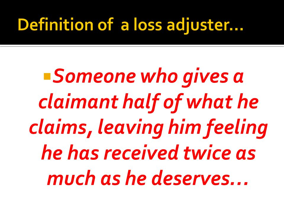 Someone who gives a claimant half of what he claims, leaving him feeling he has received twice as much as he deserves…