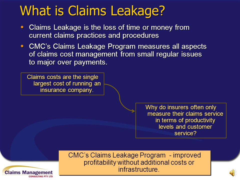 In a competitive insurance market, controlling claims costs is vital. Traditional in-house audits may not be the answer Do you measure claims leakage?