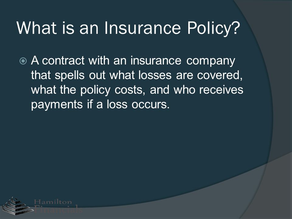 Packaged Policies: HOs HOs stands for homeowners insurance Insurance which covers more than just the home.