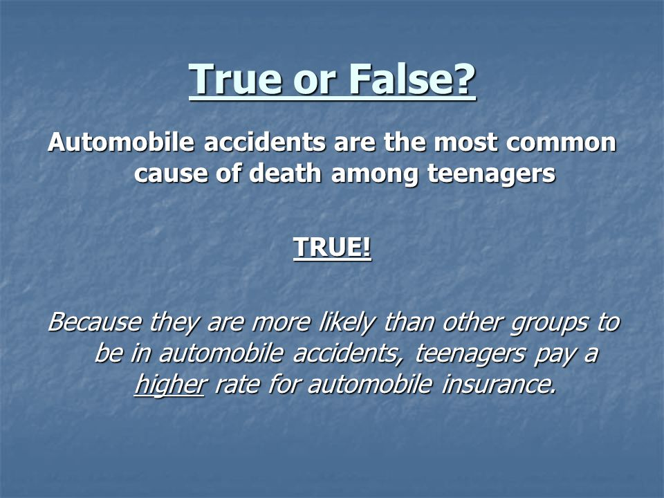 True or False.Smokers pay the same amount for life insurance as non-smokers FALSE.