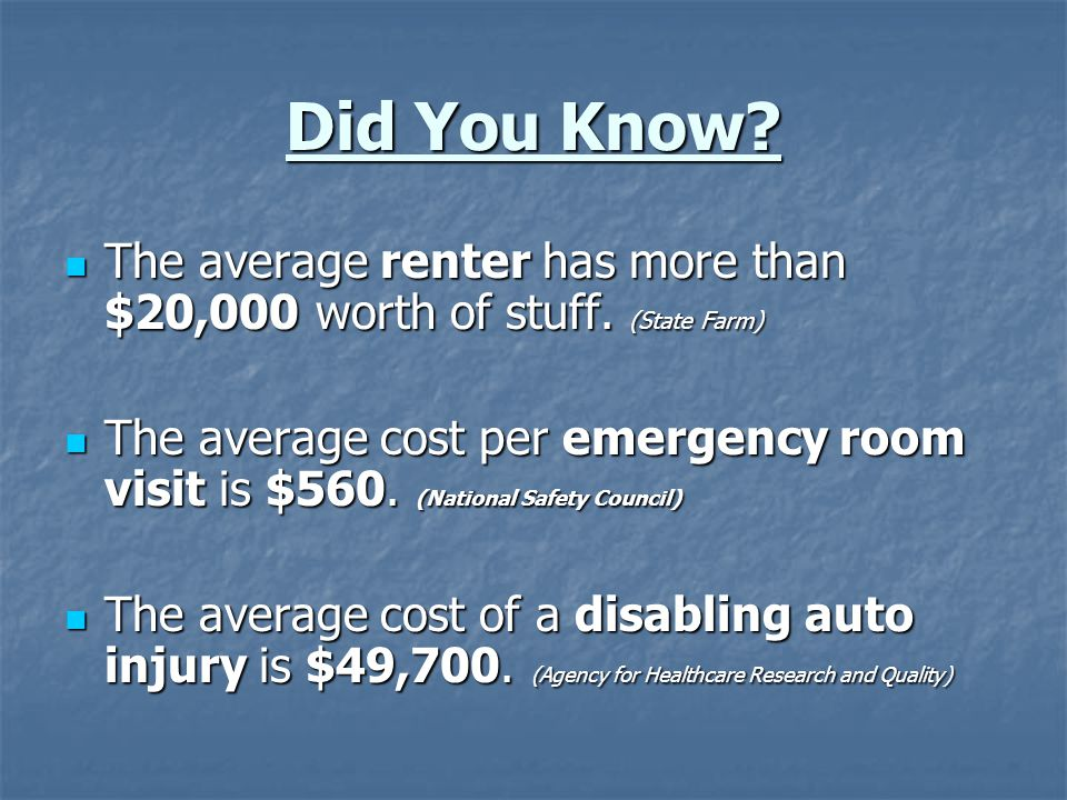 Renters Insurance - Renters do not own the building, so insurance covers your belongings and liability - Renters do not own the building, so insurance covers your belongings and liability - Take inventory of your belongings.