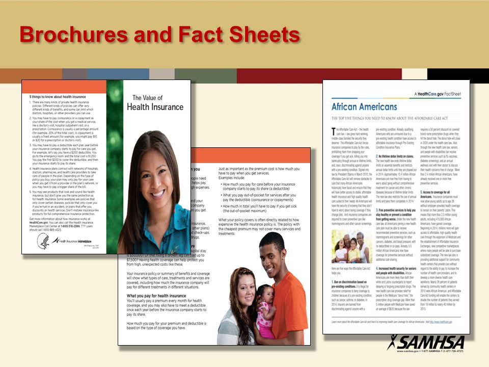 Brochures and Fact Sheets