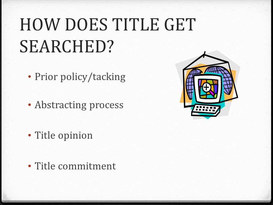 HOW DOES TITLE GET SEARCHED.