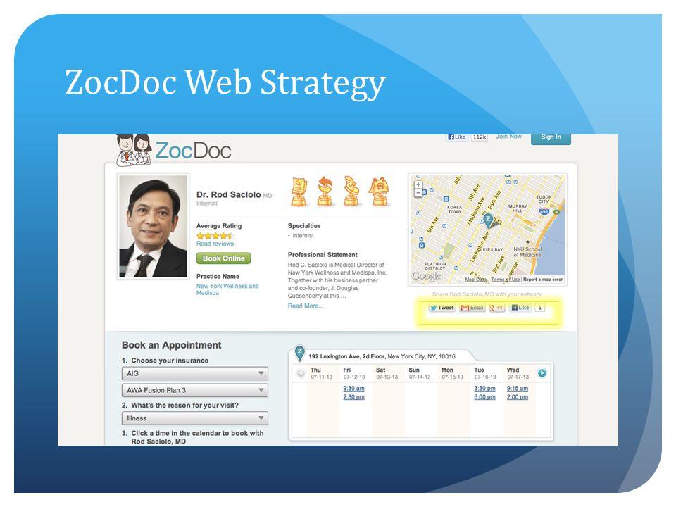 ZocDoc Web Strategy