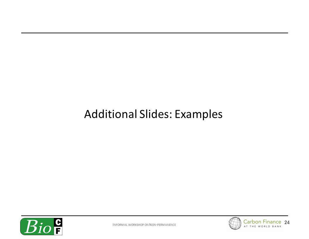 I NFORMAL WORKSHOP ON N ON - PERMANENCE 24 Additional Slides: Examples