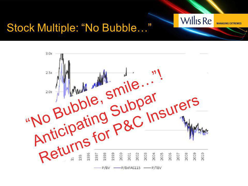 Stock Multiple: No Bubble… No Bubble, smile…! Anticipating Subpar Returns for P&C Insurers