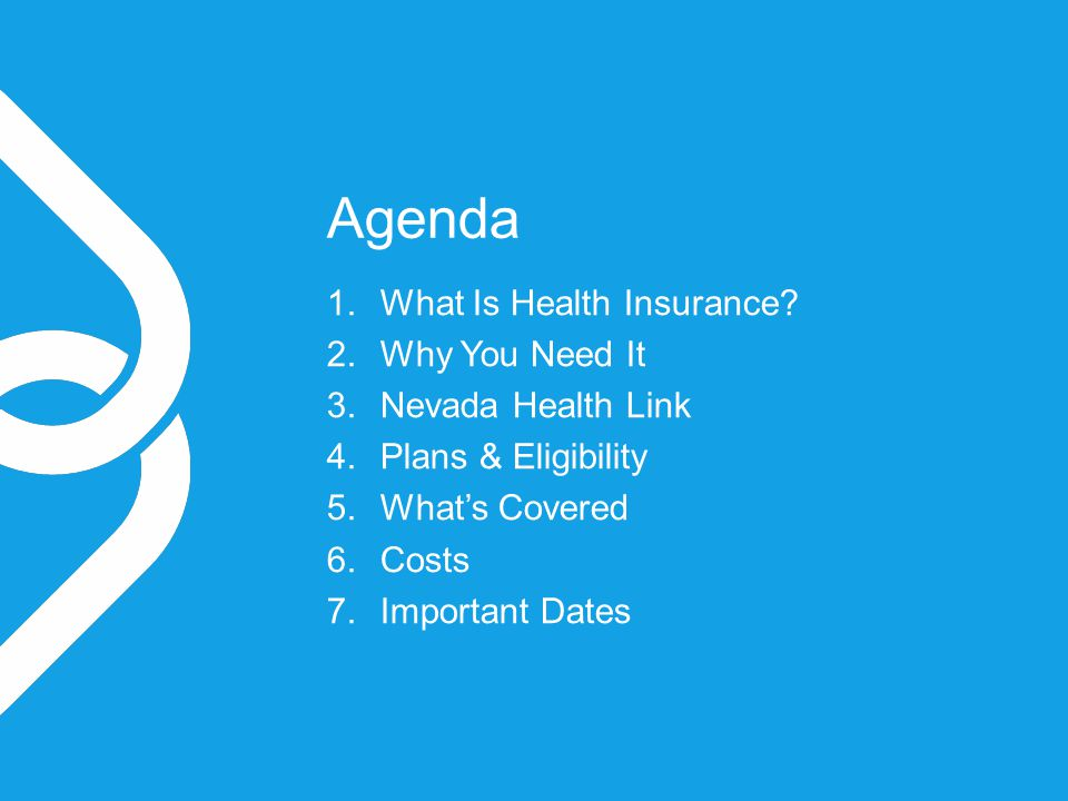 Agenda 1.What Is Health Insurance.