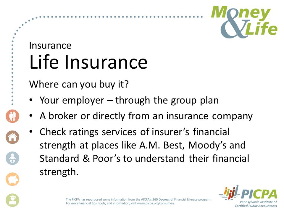 Insurance Life Insurance Where can you buy it.