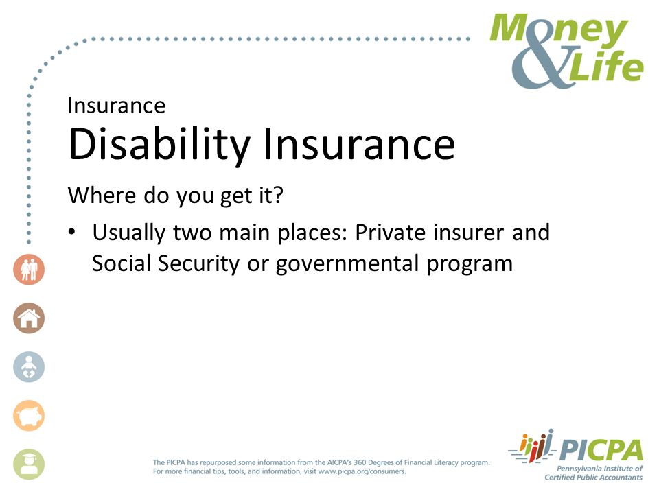 Insurance Disability Insurance Where do you get it.