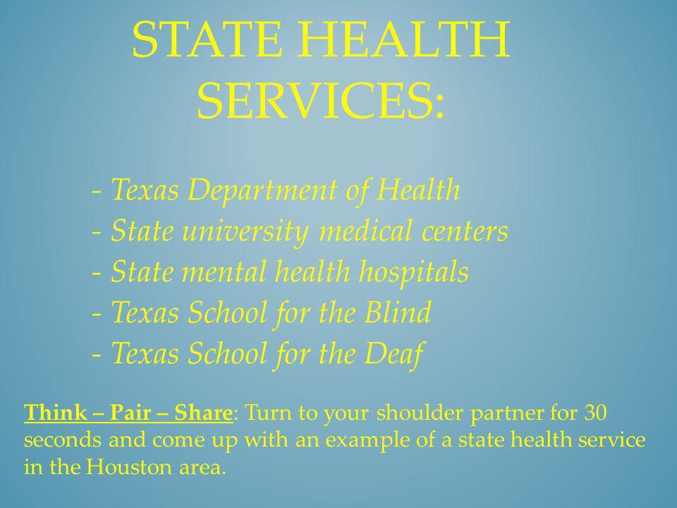 FEDERAL HEALTH SERVICES - U.S.