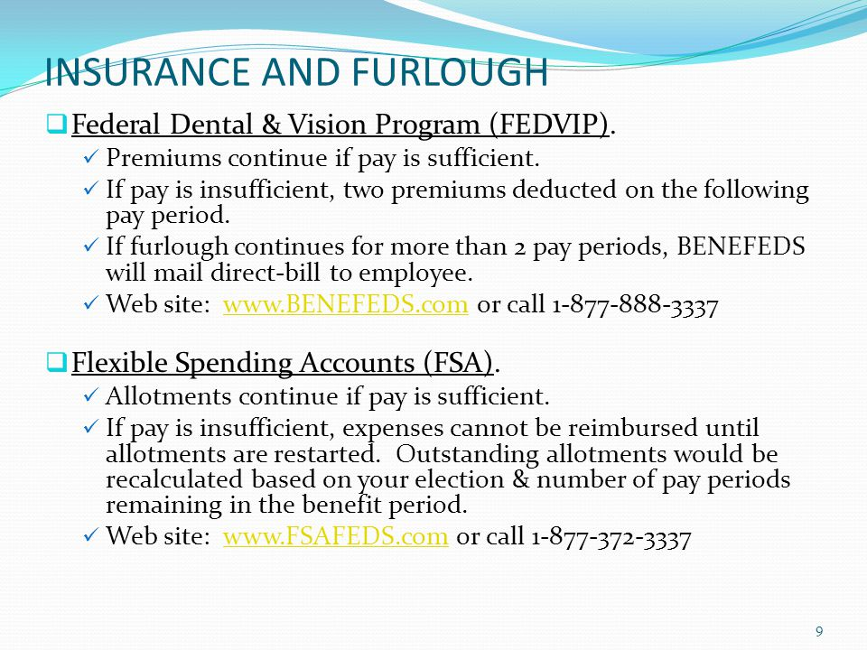 INSURANCE AND FURLOUGH Federal Employees Long-Term Insurance Program (FETCIP).