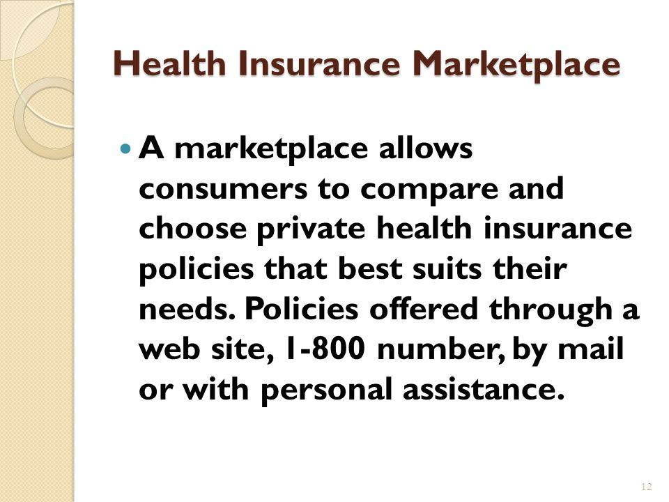 Health Insurance Marketplace 11