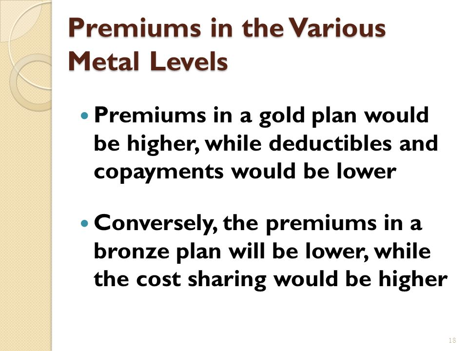 Three Levels of Plan Options in West Virginia Gold plan Insurance company pays 80% of claims and consumers on average pay 20% of the claims.
