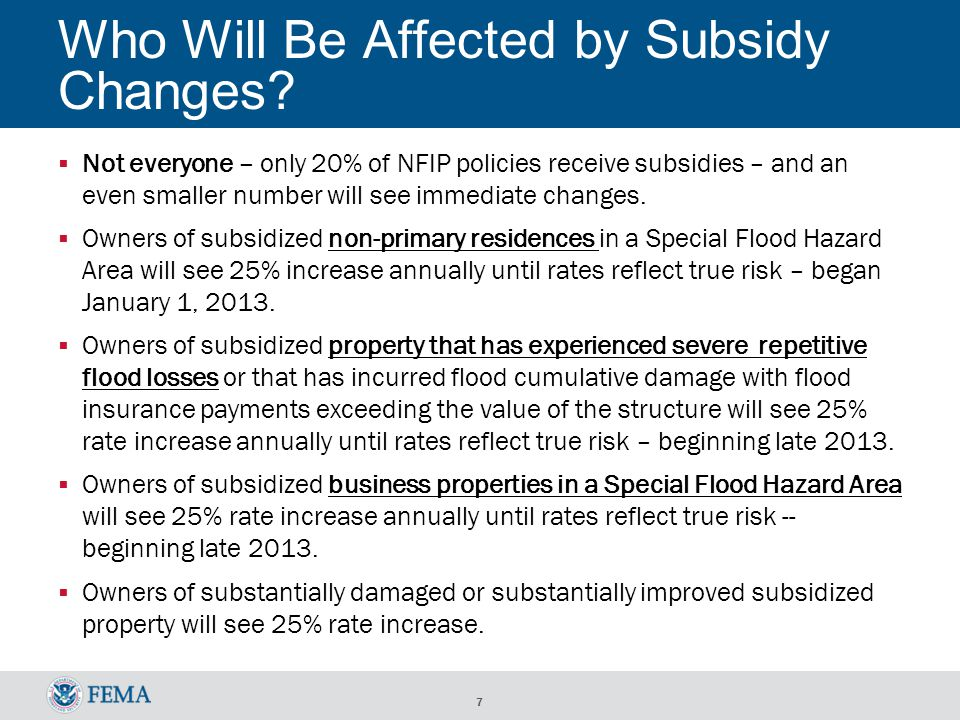 7 Who Will Be Affected by Subsidy Changes.