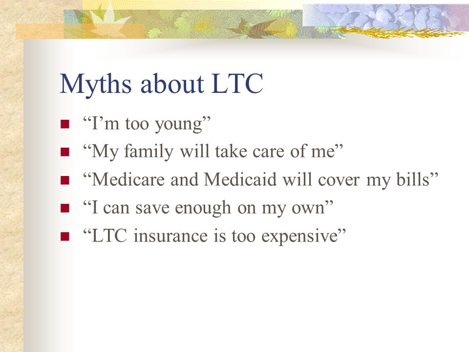 Premiums If you plan to sign up for long term care insurance it is best to do so around age 45.