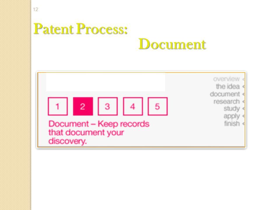 Patent Process: Document 12