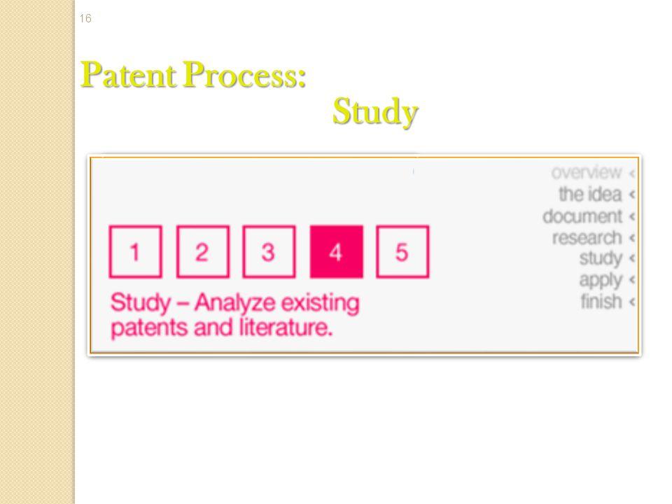 Patent Process: Study 16