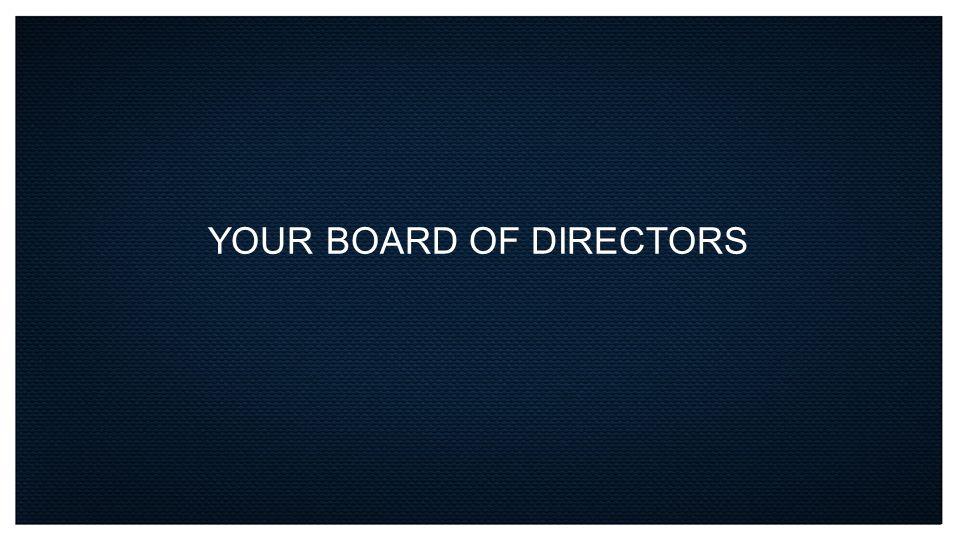 YOUR BOARD OF DIRECTORS