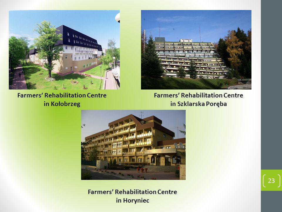 Farmers Rehabilitation Centre in Kołobrzeg Farmers Rehabilitation Centre in Horyniec Farmers Rehabilitation Centre in Szklarska Poręba 23