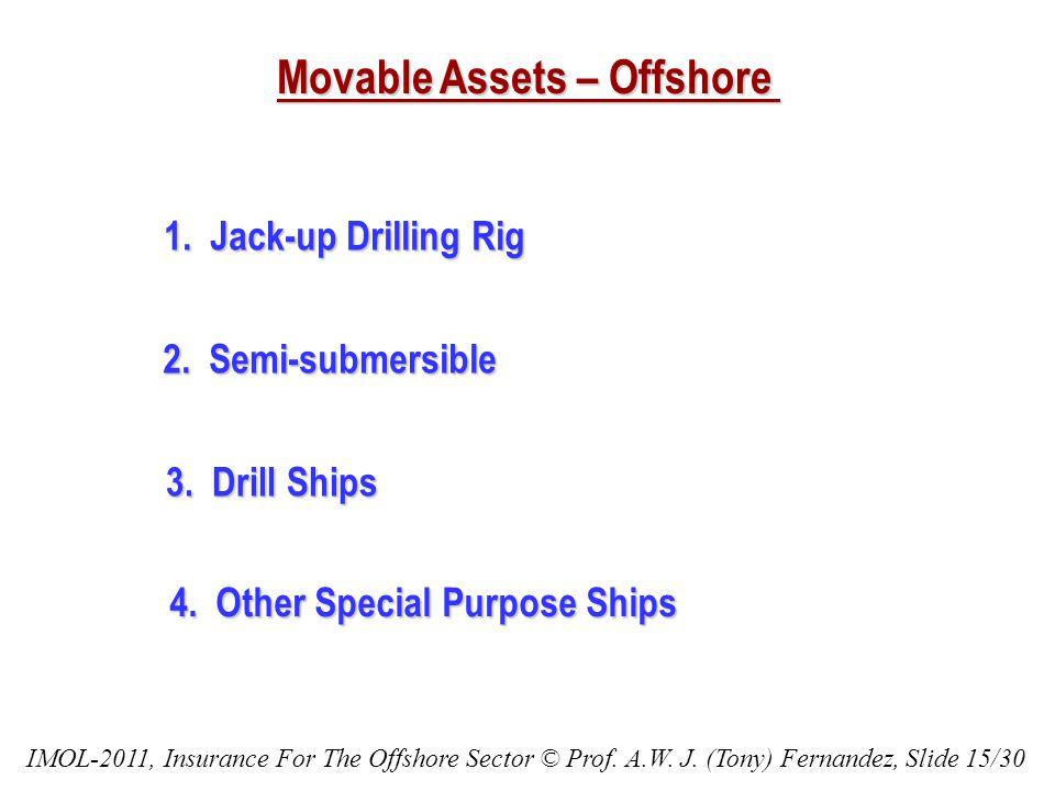 Movable Assets – Offshore 1.Jack-up Drilling Rig 2.