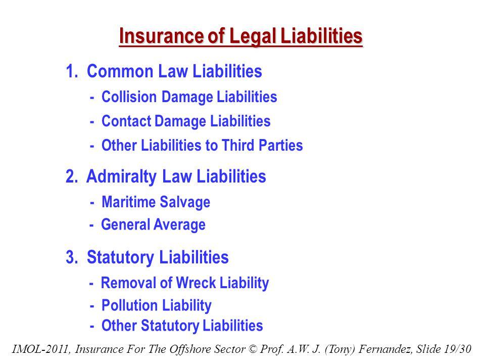 Insurance of Legal Liabilities 1.