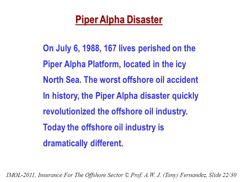 On July 6, 1988, 167 lives perished on the Piper Alpha Platform, located in the icy North Sea.