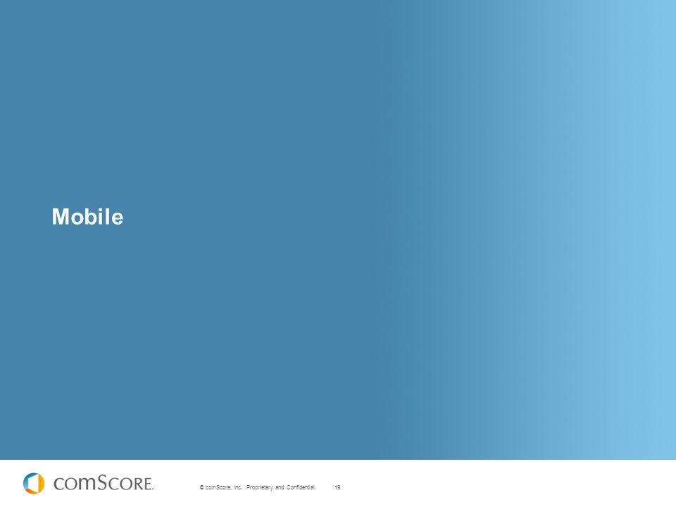 19 © comScore, Inc. Proprietary and Confidential. Mobile