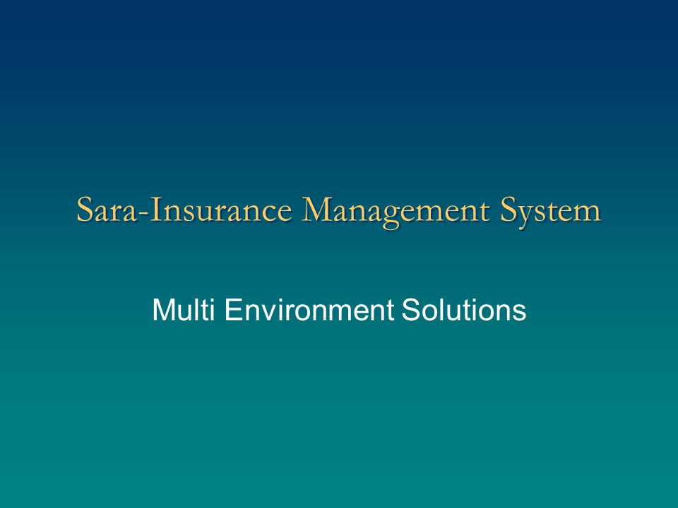 Modules: Insurance Underwriting Re-Insurance Brokerage Calculation Claim Processing Administration of Insurance Policies Finance and Administration MIS Back office Payroll HRD Purchase/Store Fixed Assets