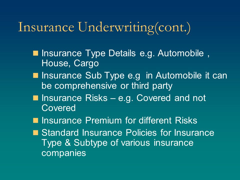 Reinsurance Reinsurance Companies Reinsurance available for various insurance type & sub type Insurance Risk covered, not covered premium etc.