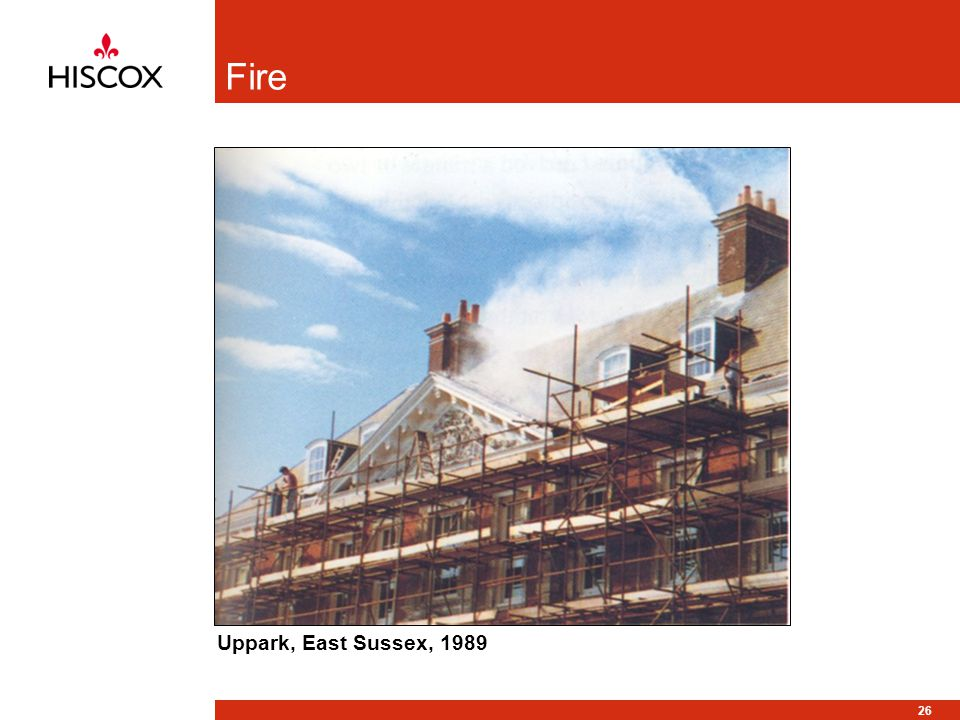26 Fire Uppark, East Sussex, 1989
