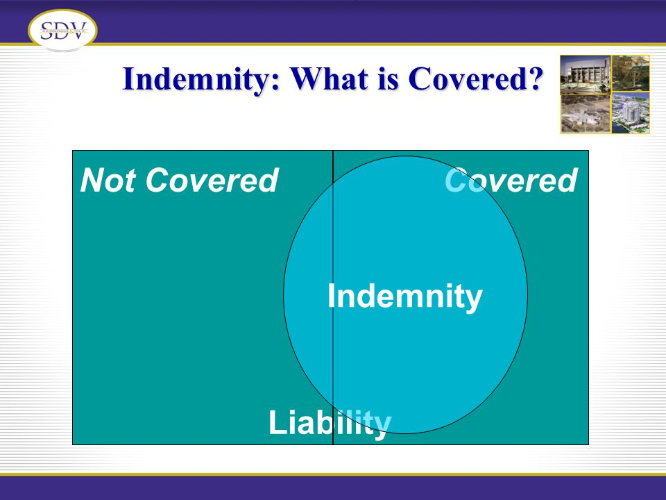 Indemnity: What is Covered? Liability Not CoveredCovered Indemnity