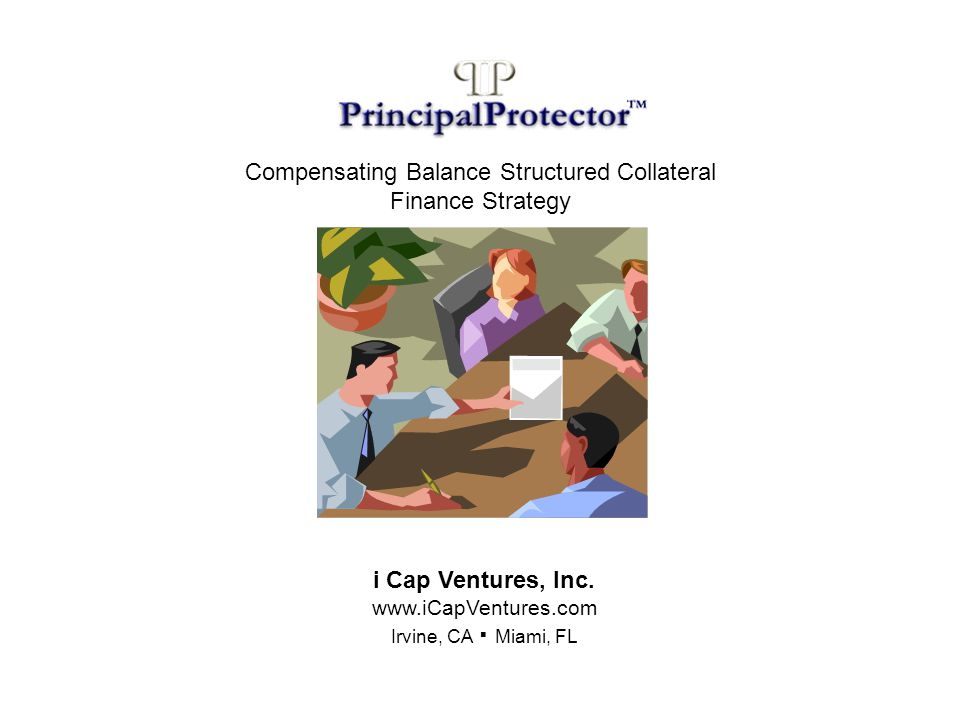 iCapVentures In cooperation with Borrower, secures Depositor and assists in negotiating favorable terms and conditions of the transaction as described above.